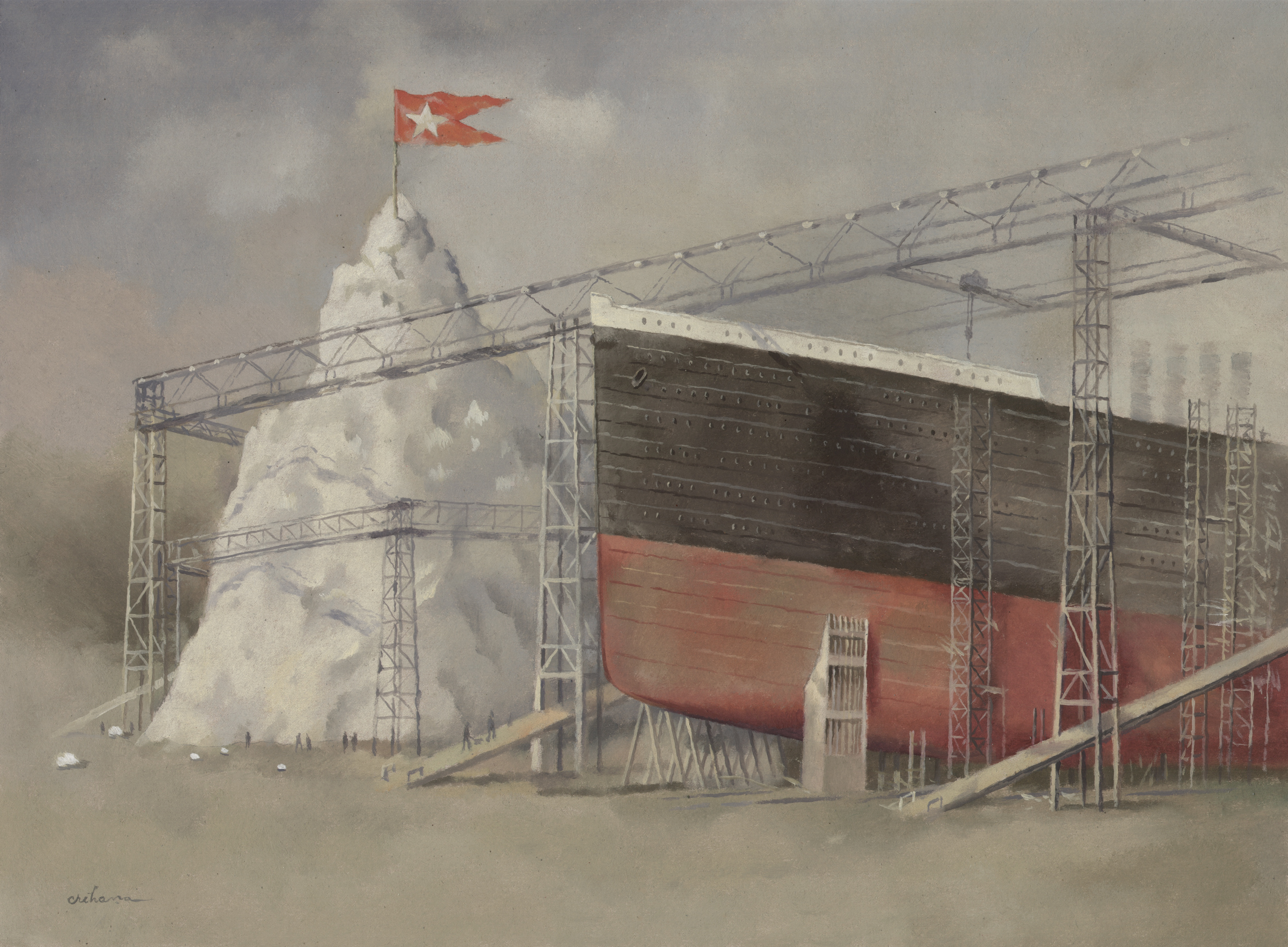 Santierul Naval Belfast constructii in paralel