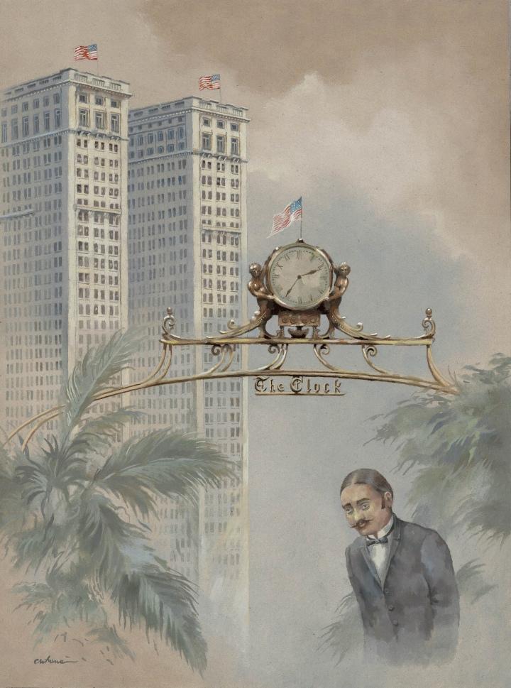 Biltmore Hotel Clock in Palmcourt